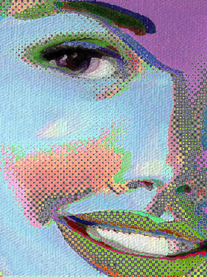 Smiling Mixed Media - Girl by Tony Rubino