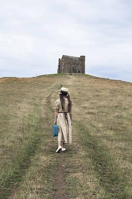 Girl Walks To A Chapel Print by Joana Kruse