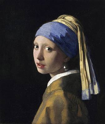 Earrings Painting - Girl With A Pearl Earring by Johannes Vermeer