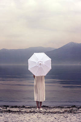 Thoughtful Photograph - Girl With Parasol by Joana Kruse