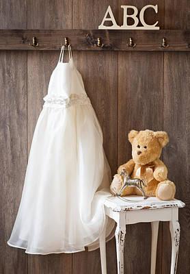Teddybear Photograph - Girls Dress by Amanda Elwell