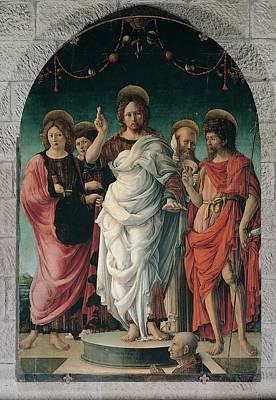 Girolamo Da Cremona, Salvator Mundi Print by Everett