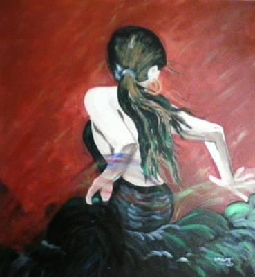 Abstracto Mixed Media - Gitana by Davileine Borrego