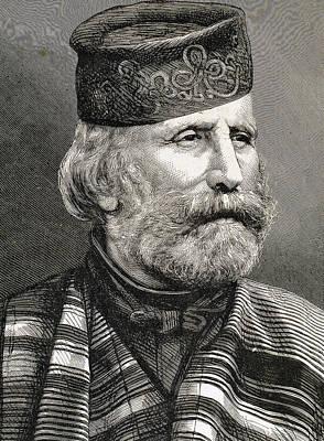 Engraving Photograph - Giuseppe Garibaldi by Bridgeman Images