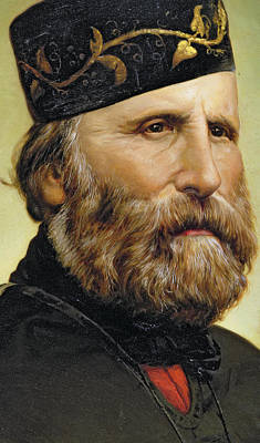 Poncho Painting - Giuseppe Garibaldi by Unknown