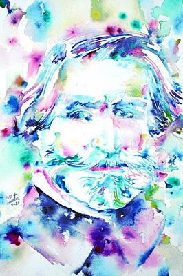 Aida Painting - Giuseppe Verdi by Fabrizio Cassetta