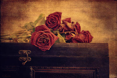 Give Me The Roses While I Live Print by Maria Angelica Maira