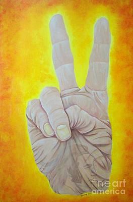 Artist Richard Brooks Painting - Give Peace A Chance. By Richard Brooks. by Fine Artist Richard Brooks
