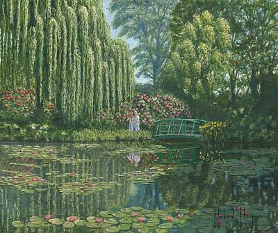 Giverny Reflections Print by Richard Harpum