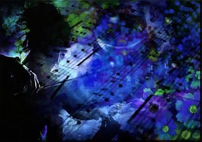 Violin Digital Art - Giving Back by Gun Legler