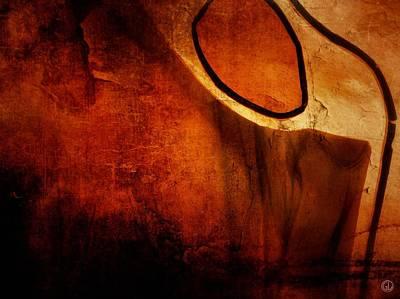 Red Abstract Digital Art - Giving Birth by Gun Legler
