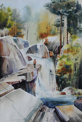 Natural Resources Painting - Glacial Quarries by P Anthony Visco