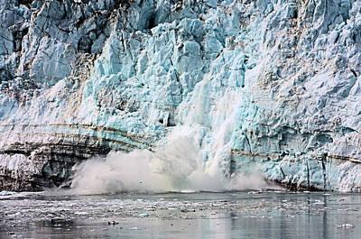 Loud Photograph - Glacier Calving Margerie by Kristin Elmquist