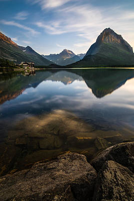 Glacier National Park 2 Print by Larry Marshall