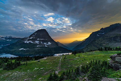 Glacier National Park 3 Print by Larry Marshall