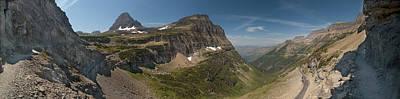 Road Photograph - Glacier National Park Panorama by Sebastian Musial