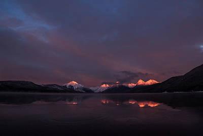 Alpen Glow // Lake Mcdonald, Glacier National Park Print by Nicholas Parker