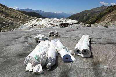 Matting Photograph - Glacier Protection by Science Photo Library