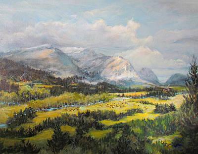 Glacier Splendor Original by Donna Tucker