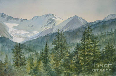 Spruce Painting - Glacier Valley Morning Sky by Sharon Freeman