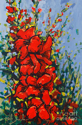 Gladiolus Painting - Glad Gathering by Mark Daniels