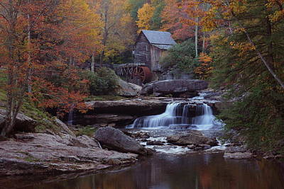 Glade Creek Grist Mill In Autumn Print by Jetson Nguyen