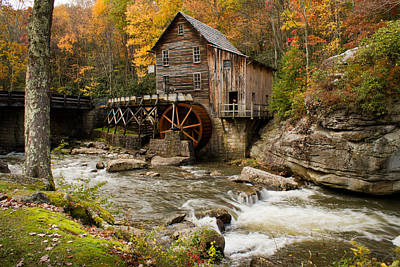 Glade Creek Grist Mill Print by Nathaniel Kidd