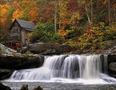 Glade Creek Grist Mill - Photo Print by Chris Flees