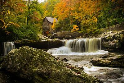 Glade Creek Grist Mill Print by Shane Holsclaw