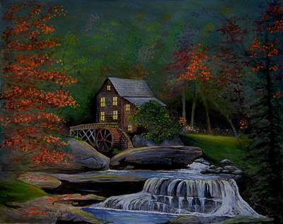 Glade Creek Grist Mill Print by Stefon Marc Brown