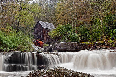 Mill Photograph - Glade Creek Waterfall by Marcia Colelli
