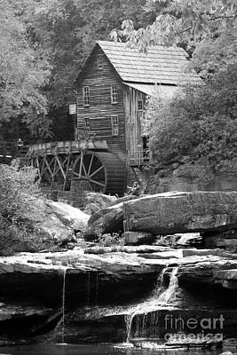 Glade's Mill Black And White Print by Dwight Cook