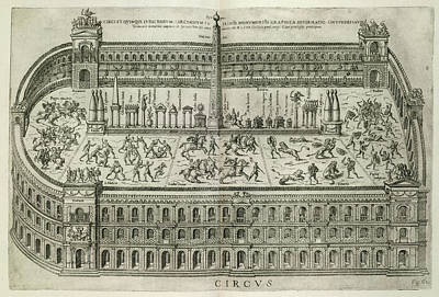 Gladiators Print by British Library