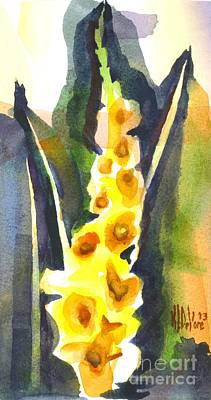 Gladiolas In Wintertime Print by Kip DeVore
