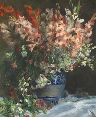 Pierre-auguste Renoir Painting - Gladioli In A Vase by Pierre-Auguste Renoir