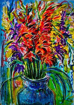 Gladiolus Drawing - Gladiolus by Maxim Komissarchik