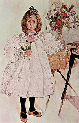 Charming Drawing - Gladys by Carl Larsson