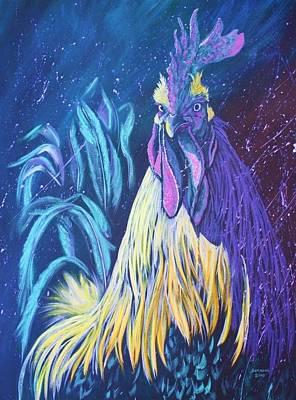 Splashy Art Painting - Glambert by Cynthia Sampson