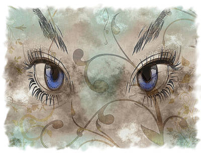 Abstraction Drawing - Glamor Eyes by Mountain Dreams