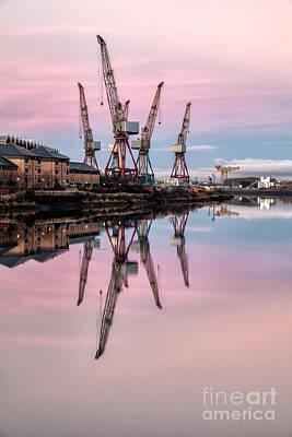 Glasgow Cranes With Belt Of Venus Print by John Farnan