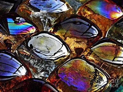 Iridescent Glass Photograph - Glass Abstract 13 by Sarah Loft