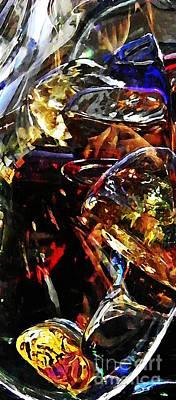 Glass Abstract 137 Print by Sarah Loft