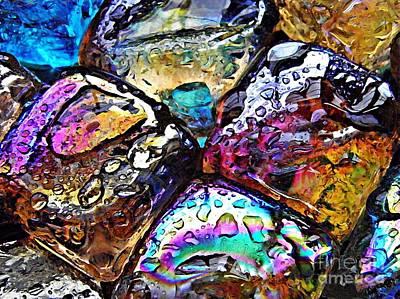 Iridescent Glass Photograph - Glass Abstract 18 by Sarah Loft