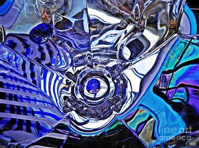 Glass Abstract 215 Print by Sarah Loft