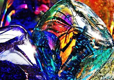 Iridescent Glass Photograph - Glass Abstract 22 by Sarah Loft