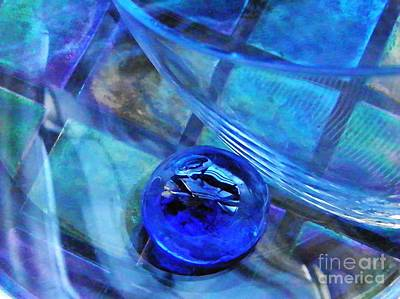 Glass Abstract 238 Print by Sarah Loft