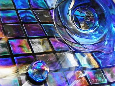 Iridescent Glass Photograph - Glass Abstract 241 by Sarah Loft