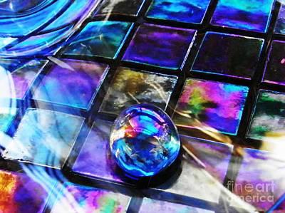 Iridescent Glass Photograph - Glass Abstract 256 by Sarah Loft