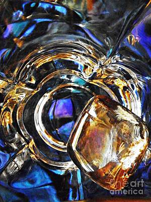 Iridescent Glass Photograph - Glass Abstract 278 by Sarah Loft