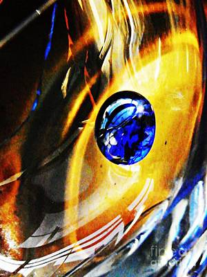 Glass Abstract 281 Print by Sarah Loft